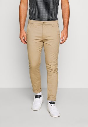STRETCH - Pantalones chinos - stone