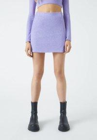 PULL&BEAR - A-line skirt - purple - 0