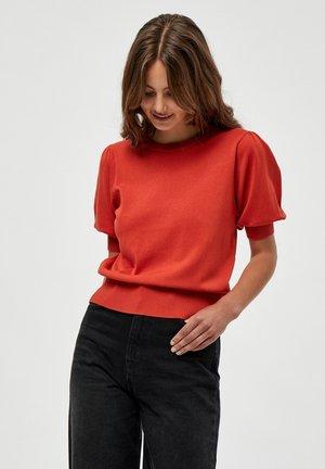 LIVA - T-shirt print - lipstick red