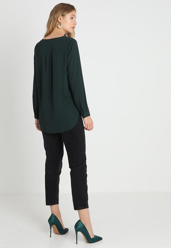 Selected Femme SFDYNELLA - Bluzka - scarab/ciemnozielony XGCZ