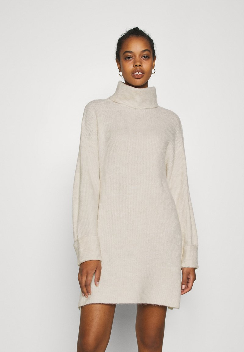 Topshop - PLATED FUNN - Jumper dress - oat