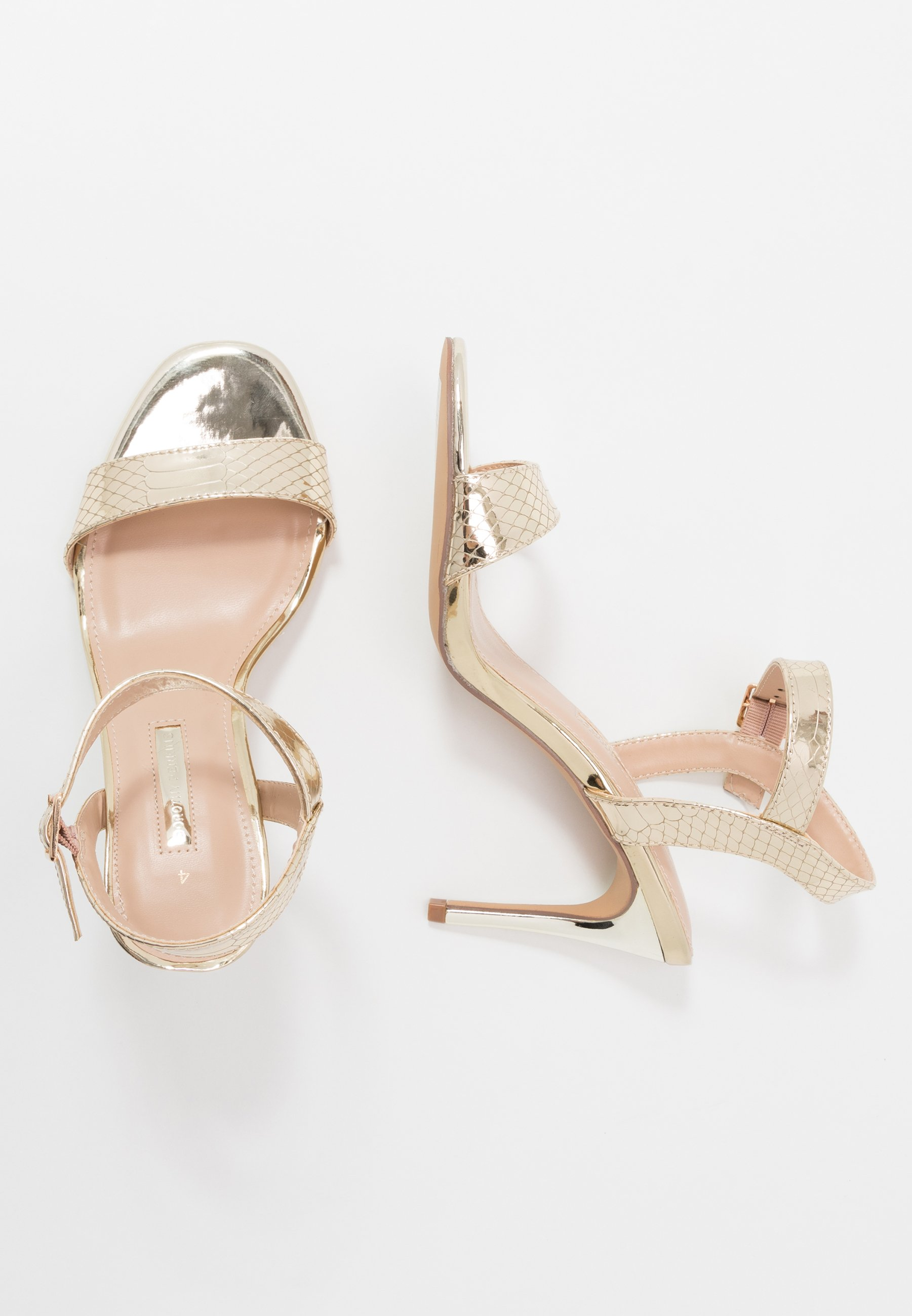 Dorothy Perkins - SOHO ENAMEL MINIMAL  - High heeled sandals - gold