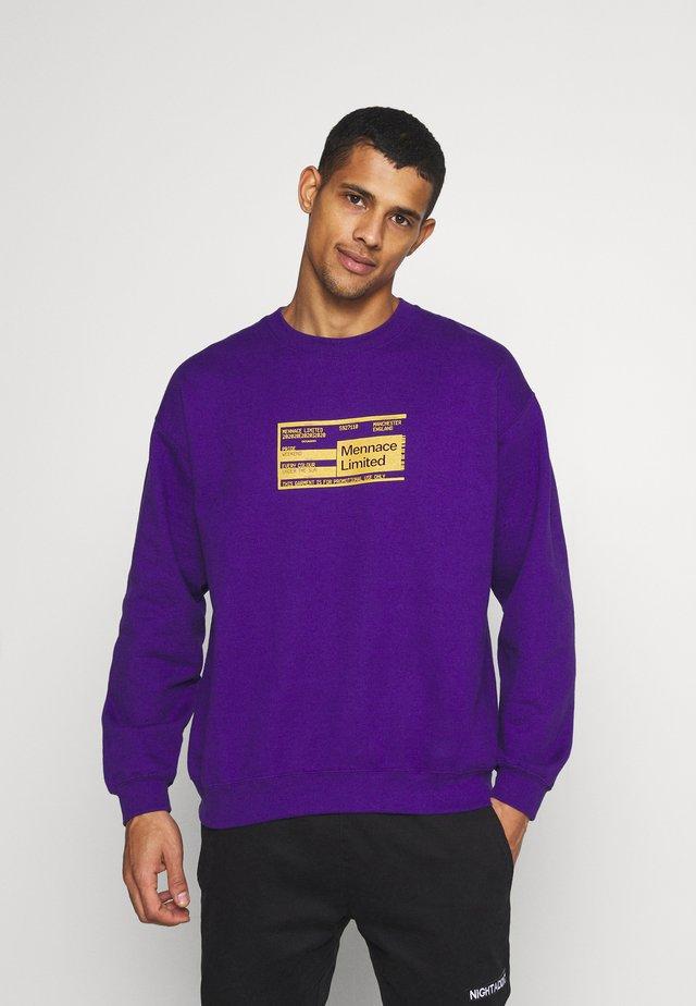 UNISEX PRIDE TICKET SWEATSHIRT - Sweatshirts - purple