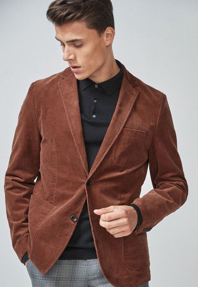 Next - CORD - Blazer jacket - brown