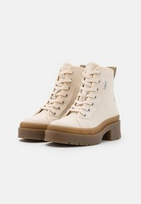 ONLY SHOES - ONLPHOBE LACE UP BOOT  - Platform ankle boots - offwhite - 2
