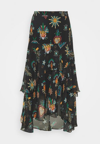 FARM FESTA TIERED MIDI SKIRT