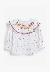 Next - EMBROIDERED - Print T-shirt - white - 0
