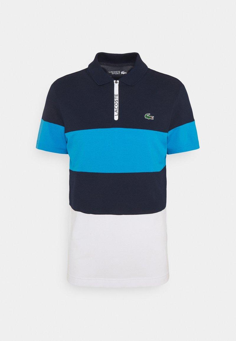 Lacoste Sport - GOLF BIG STRIPE - Poloshirt - navy blue/ibiza/white