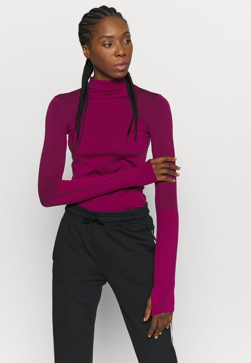 adidas Performance - Long sleeved top - power berry/purple