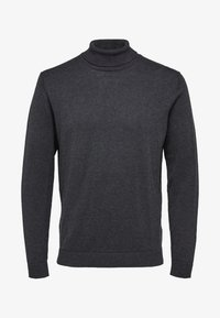 Selected Homme - SLHTOWER ROLL   - Jumper - anthracite - 4