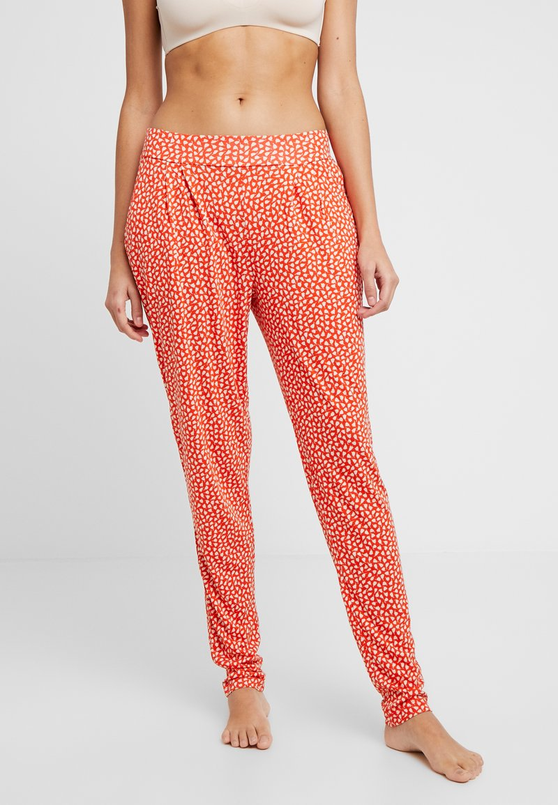 s.Oliver - Pyjama bottoms - orange/creme