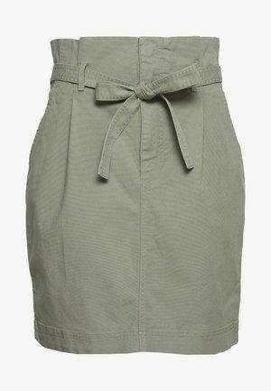 PAPERBAG SKIRT - Spódnica trapezowa - douglas fir
