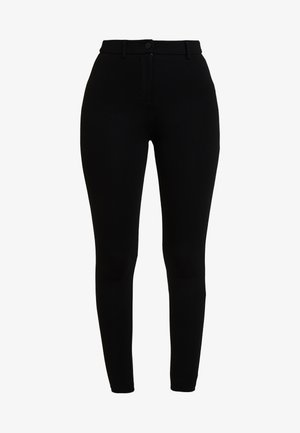 BUTTON TREGGING - Leggings - Trousers - black