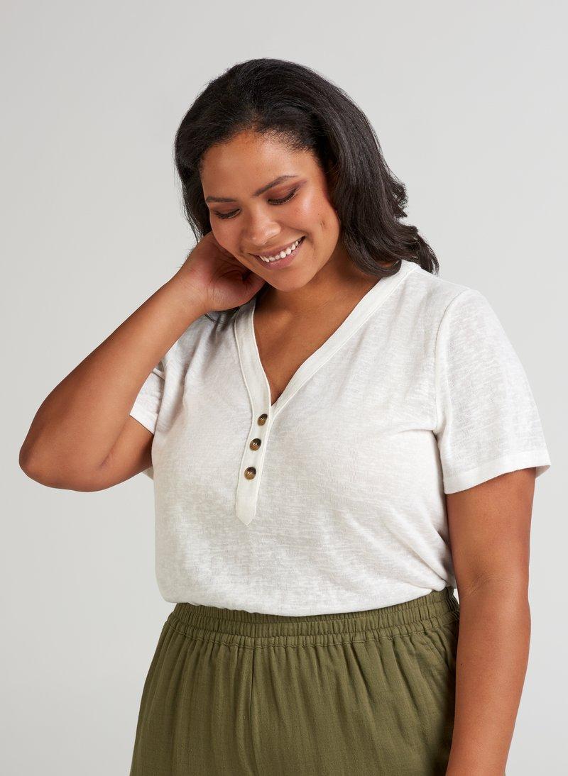 Zizzi - Basic T-shirt - off-white