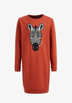 MET EMBROIDERY - Day dress - orange