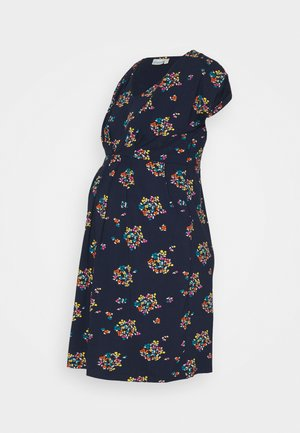 FLORAL NURSINGTUNIC DRESS - Jersey dress - navy