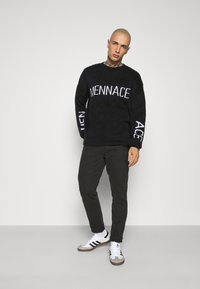 Mennace - JAQUARD JUMPER - Jumper - black - 1