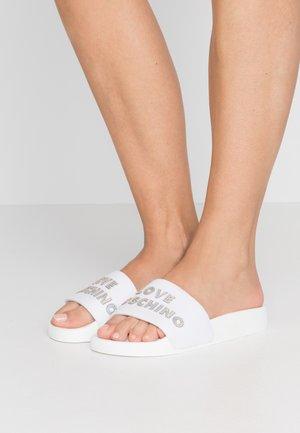 EXCLUSIVE TIE DYE POOL SLIDE - Pantofle - bianco