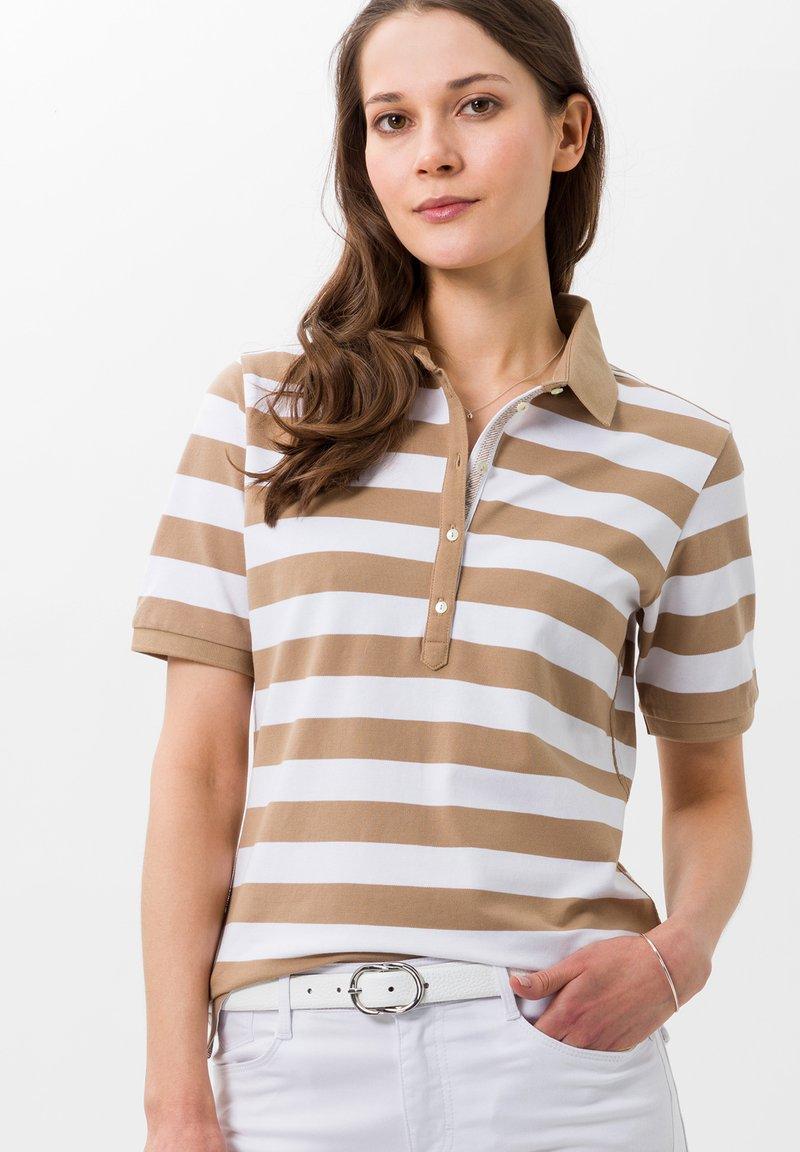 BRAX - STYLE CLEO - Polo shirt - sand