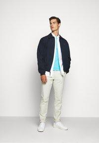 Polo Ralph Lauren - CUSTOM SLIM FIT JERSEY CREWNECK T-SHIRT - Basic T-shirt - french turquoise - 1