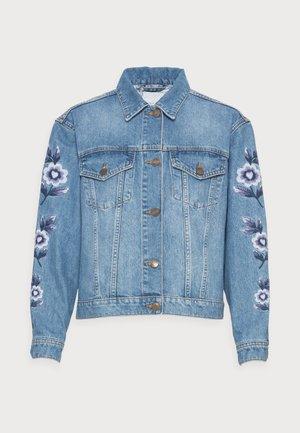 CAMILLE EMBRO JACKET - Denim jacket - light medium denim