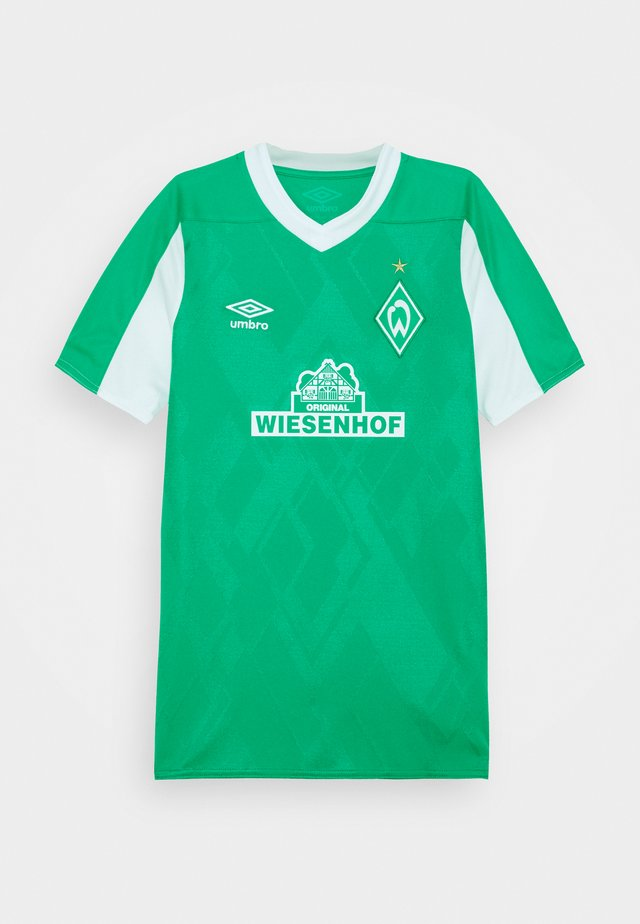 WERDER BREMEN HOME UNISEX - Klubbklær - golf green/brilliant white