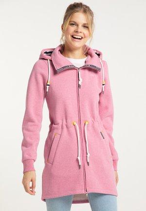 Zip-up hoodie - sorbetrot melange