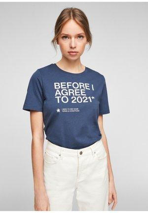 Print T-shirt - blue big print