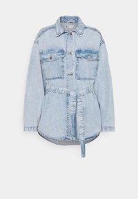 Gina Tricot - BELTED SHACKET - Denim jacket - blue - 0
