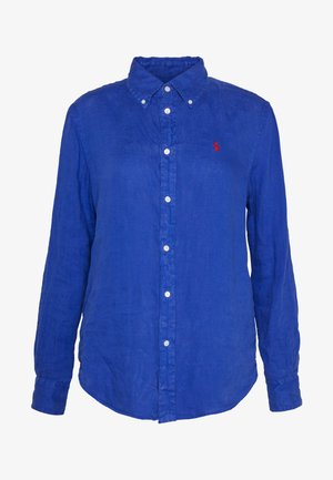 RELAXED LONG SLEEVE - Button-down blouse - royal blue