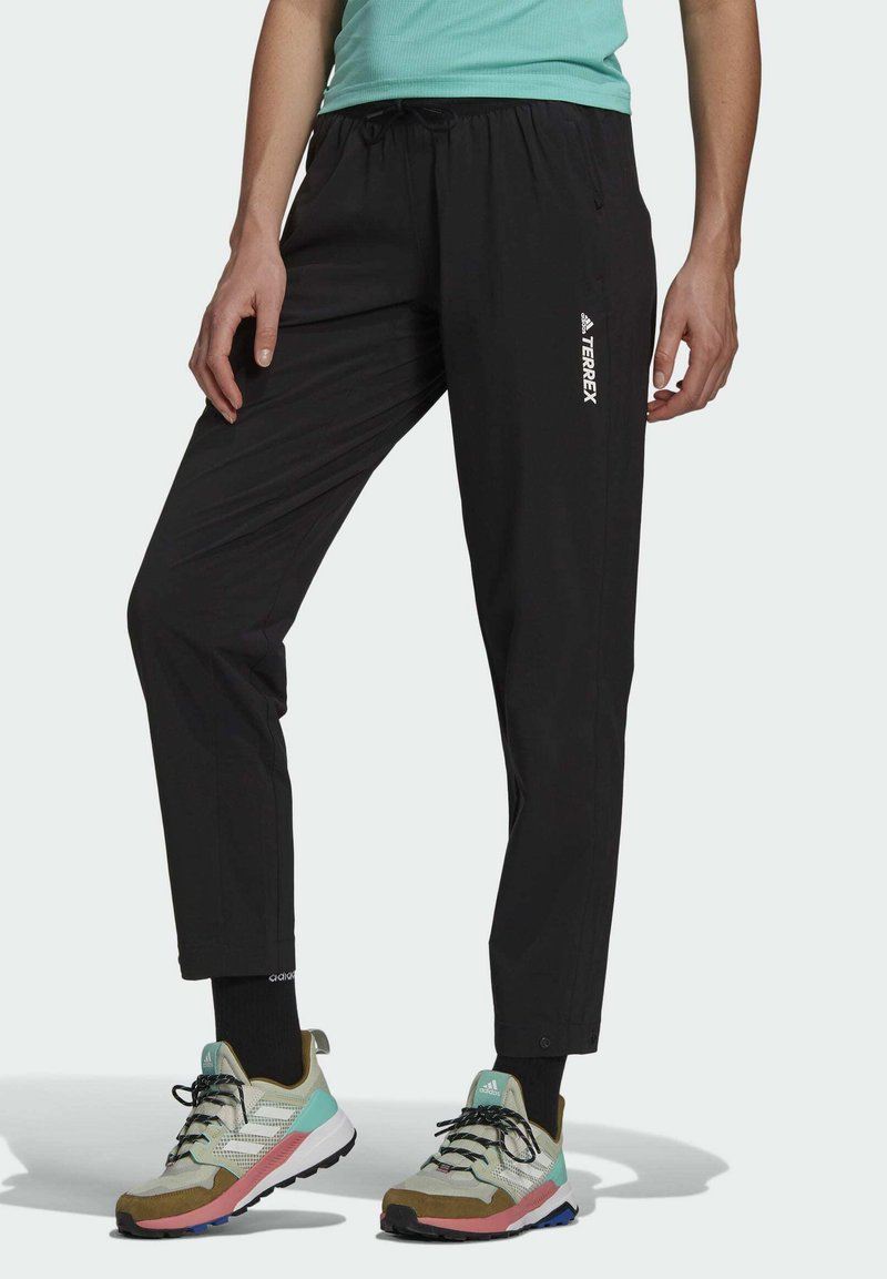adidas Performance - TERREX LITEFLEX HIKING TRACKSUIT BOTTOMS - Tracksuit bottoms - black