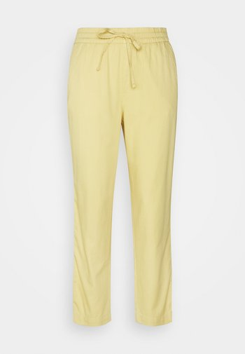 EASY PANT SOLID - Trousers - faded yellow