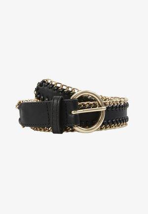 PCANNABEL JEANS BELT - Belt - black/gold-coloured