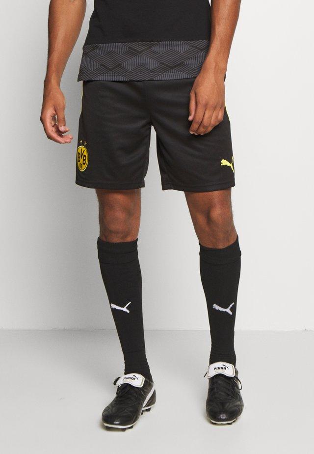 BVB BORUSSIA DORTMUND REPLICA - Korte broeken - black/cyber yellow