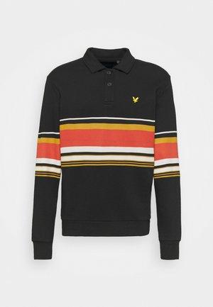 COLLARED STRIPE PANEL - Sweatshirt - true black