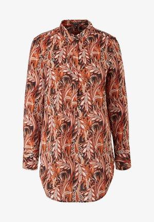 LONG - Button-down blouse - black paisley