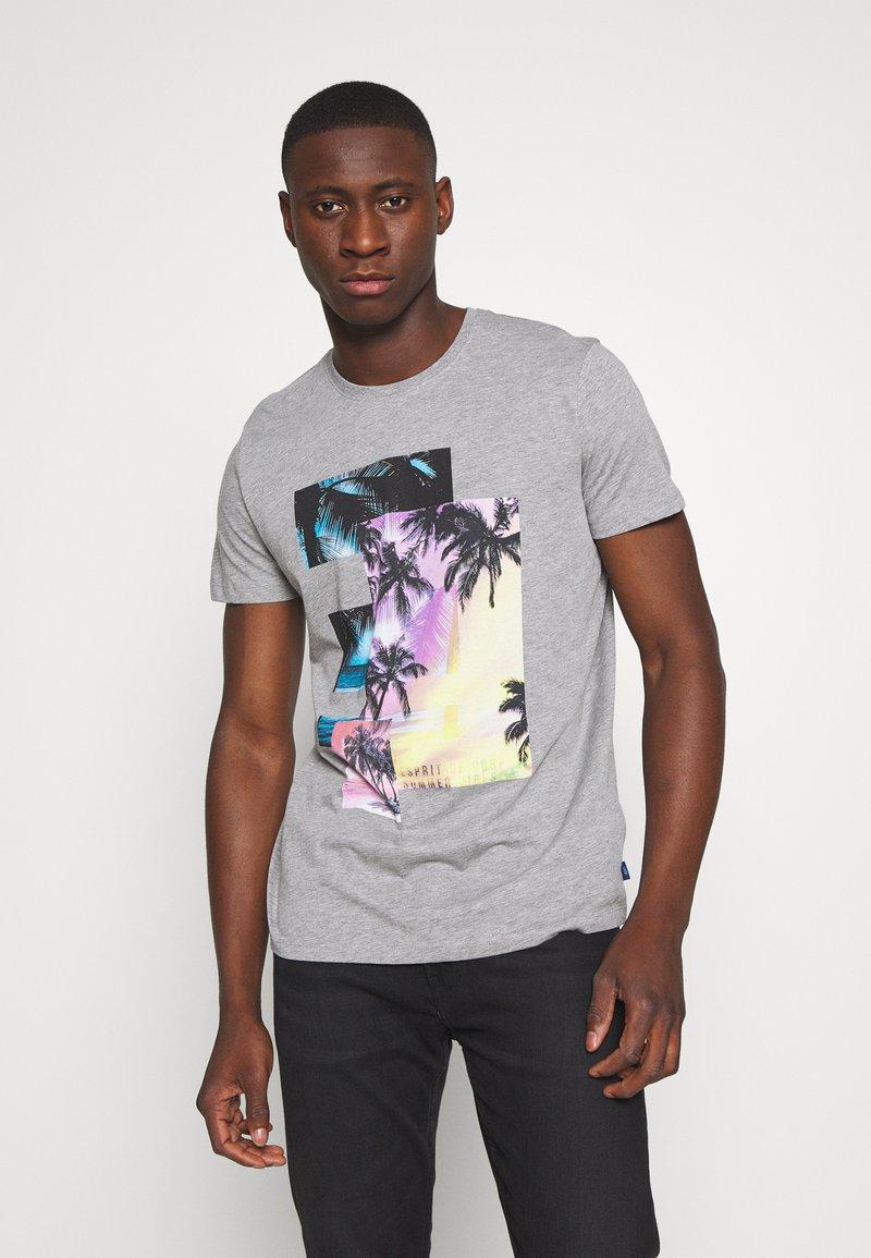 edc by Esprit - Print T-shirt - mottled grey