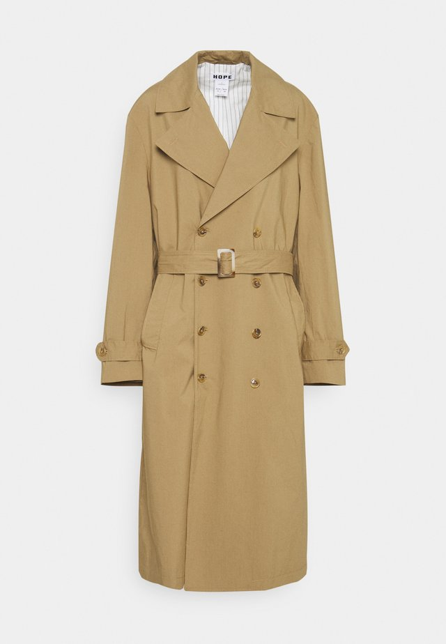 DUAL COAT - Trenchcoat - beige