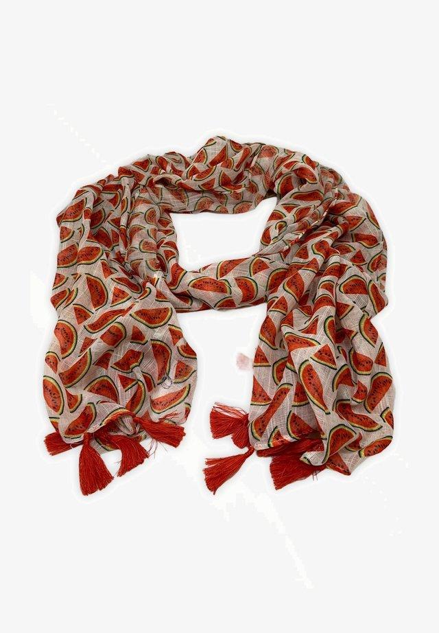 Bufanda - white/red