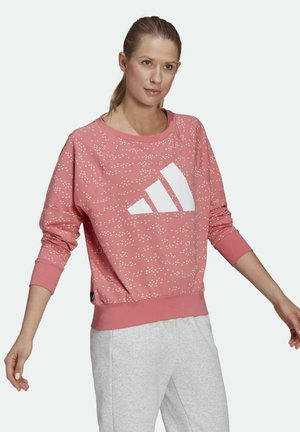 W WIN CREW MUST HAVES ENHANCED SPORTS LOOSE PULLOVER SWEATSHIRT - Sudadera - pink
