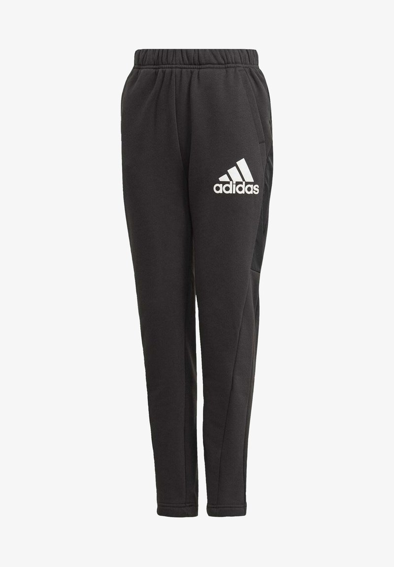 adidas Performance - BADGE OF SPORT FLEECE ATHLETICS REGULAR PANTS - Tracksuit bottoms - black