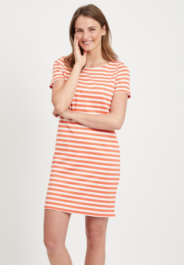 Vila - VITINNY  - Jersey dress - coral