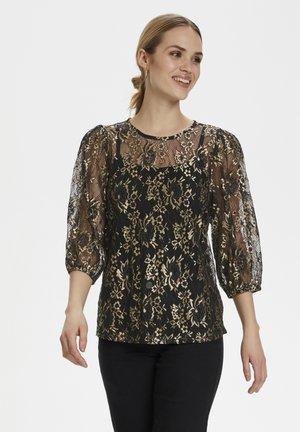 Tunika - gold/black lace fabric