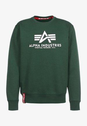 BASIC - Sweatshirt - navy greem