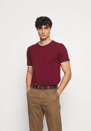 EBANKS - T-shirt basic - bordeaux