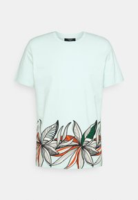 Jack & Jones PREMIUM - JPRBLAGOA PLACEMENT TEE - T-shirt print - bleached aqua - 0