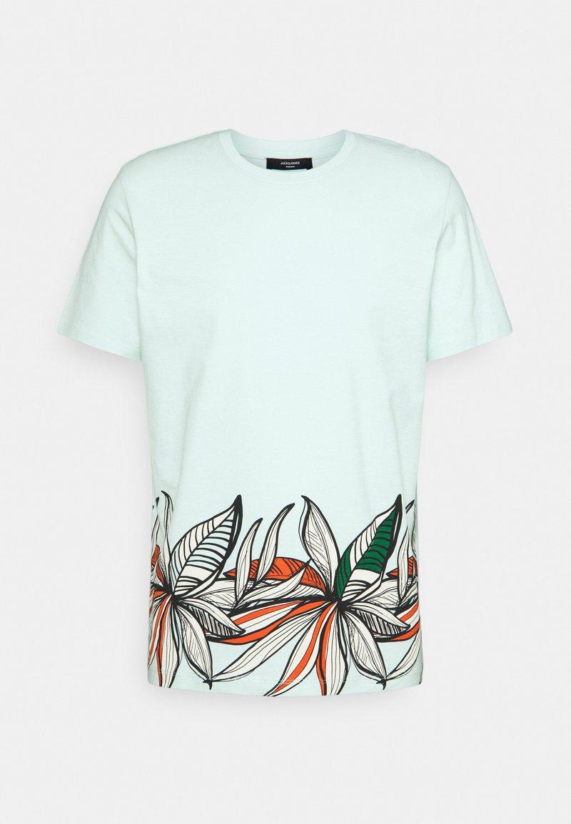 Jack & Jones PREMIUM - JPRBLAGOA PLACEMENT TEE - T-shirt print - bleached aqua
