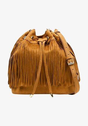 FRINGI BAG - Across body bag - camel