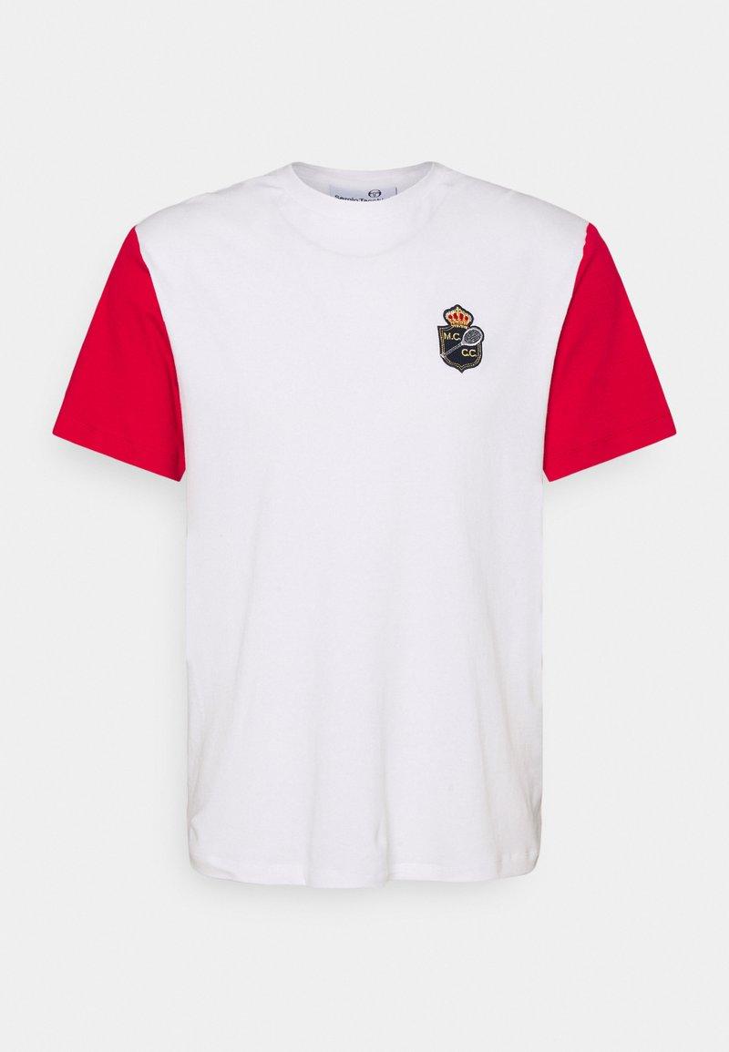 Sergio Tacchini - RAINIER - Print T-shirt - blanc de blanc/tango red