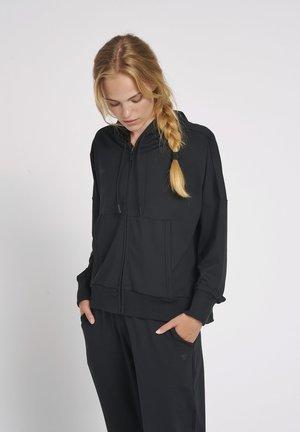 HMLLUISE LOOSE  - Zip-up sweatshirt - black
